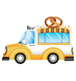 A vehicle selling bread vector