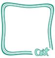 Cat frame vector