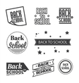 Set of back to school lettering vector