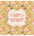 Birthday party celebration background with emblem vector
