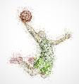 Abstract basketball player2 vector