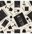 Seamless pattern of bedroom furniture vector