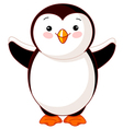 Cute baby penguin vector
