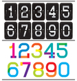 Set of two sets of numbers for advertising and web vector