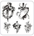 Christian symbols - vector