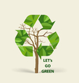 Tree shaped recycle symbol symbol on the packaging vector