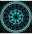 Decorative blue pattern card vector