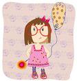 Girl with a balloon vector