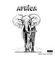 African elephant in savanna vector