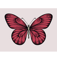 Butterfly in vintage style hand-drawn contour line vector