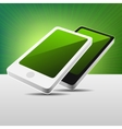 Realistic 3d view modern mobile phones set - black vector