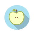Flat design concept apple with long shadow vector