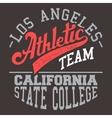 California athletic team vector