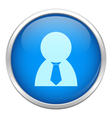 Blue business man icon vector
