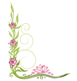 Lotus flower border vector
