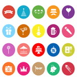 Party time flat icons on white background vector