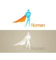 Origami human social icon vector
