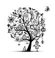 Halloween tree for your design vector