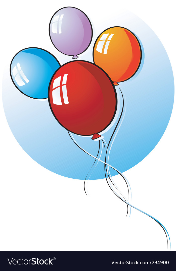 Balloons vector | Price: 3 Credit (USD $3)