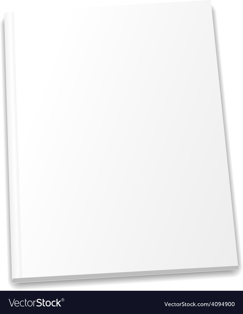 Blank magazine template on light background vector | Price: 1 Credit (USD $1)