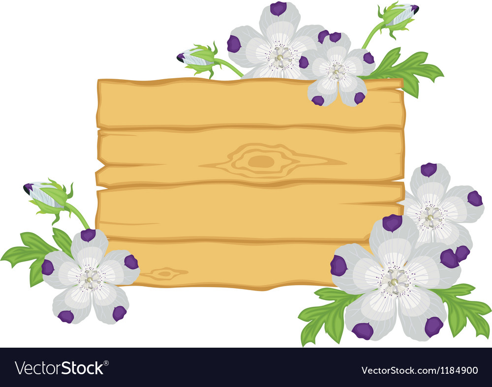 Board with flowers vector | Price: 1 Credit (USD $1)