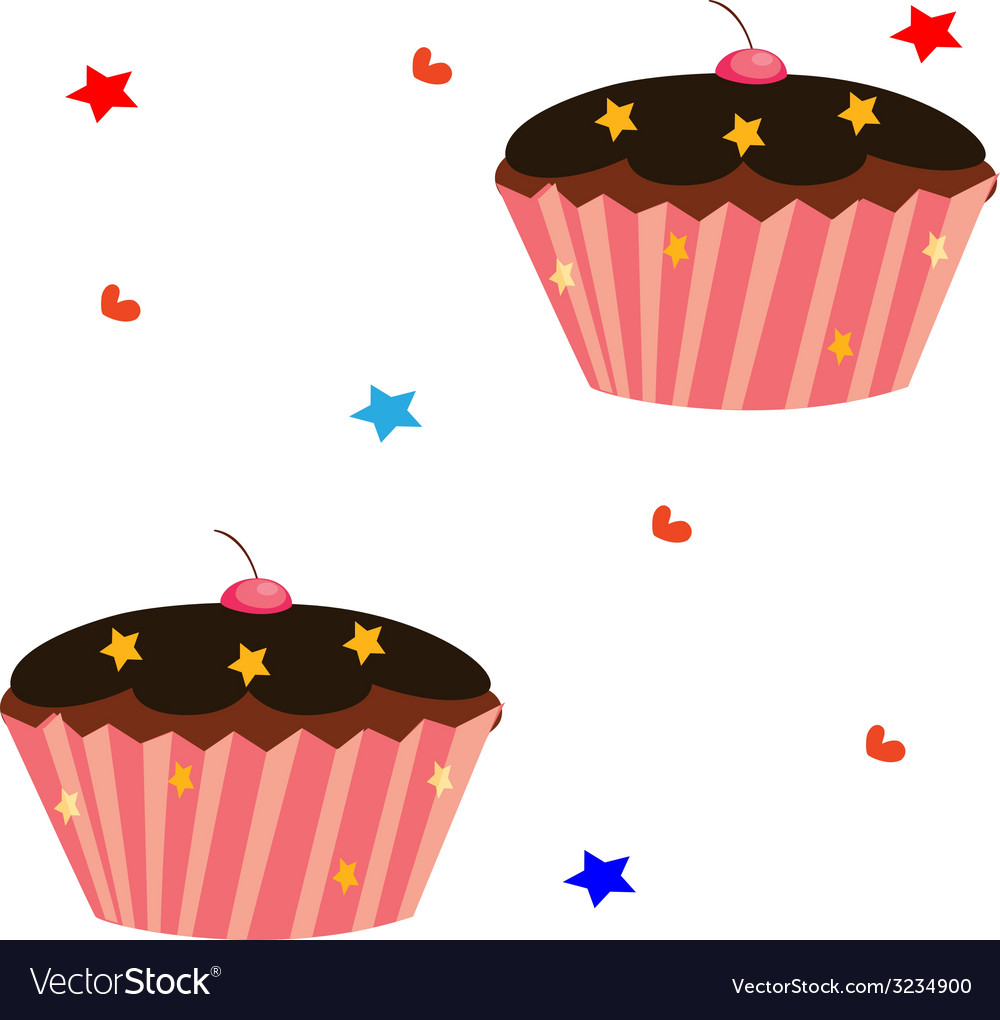 Cupcake set vector   Price: 1 Credit (USD $1)