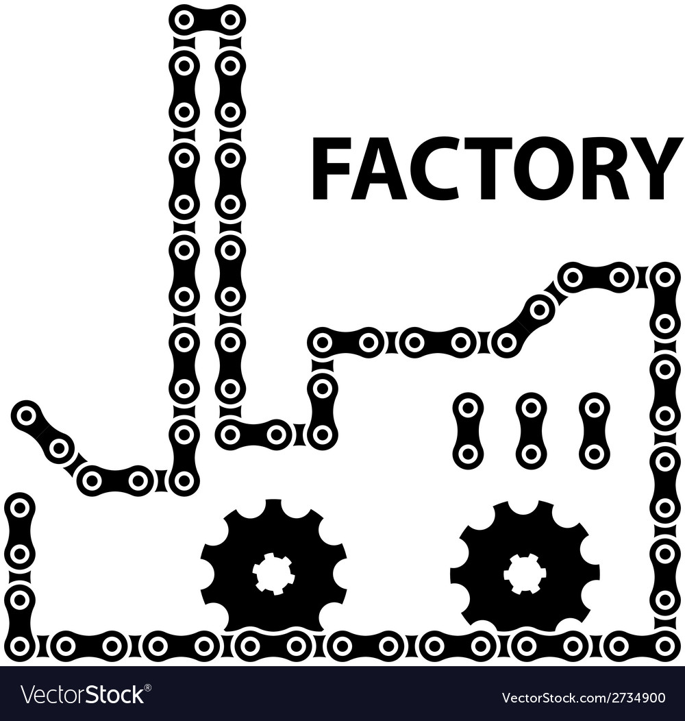 Factory industry chain sprocket silhouette vector | Price: 1 Credit (USD $1)