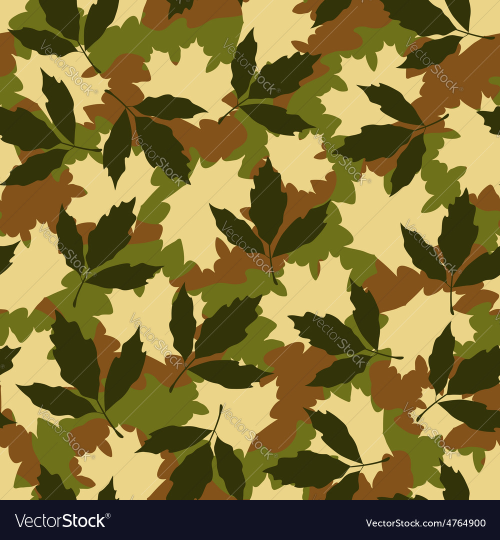 Foliage camouflage seamless pattern vector | Price: 1 Credit (USD $1)