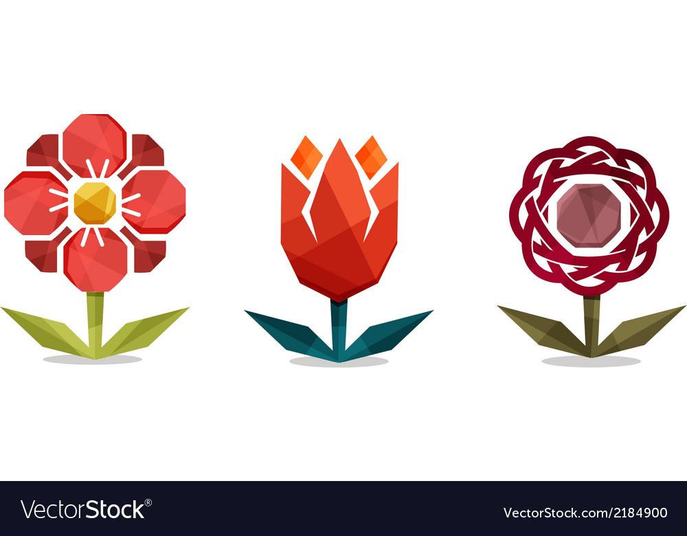 Geometric flowers vector | Price: 1 Credit (USD $1)