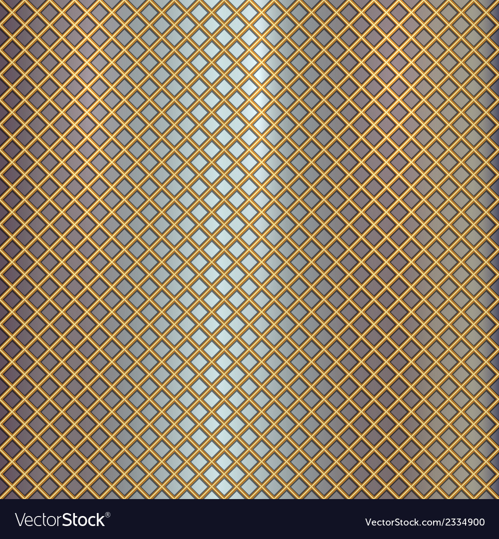 Gold grille on steel background vector | Price: 1 Credit (USD $1)
