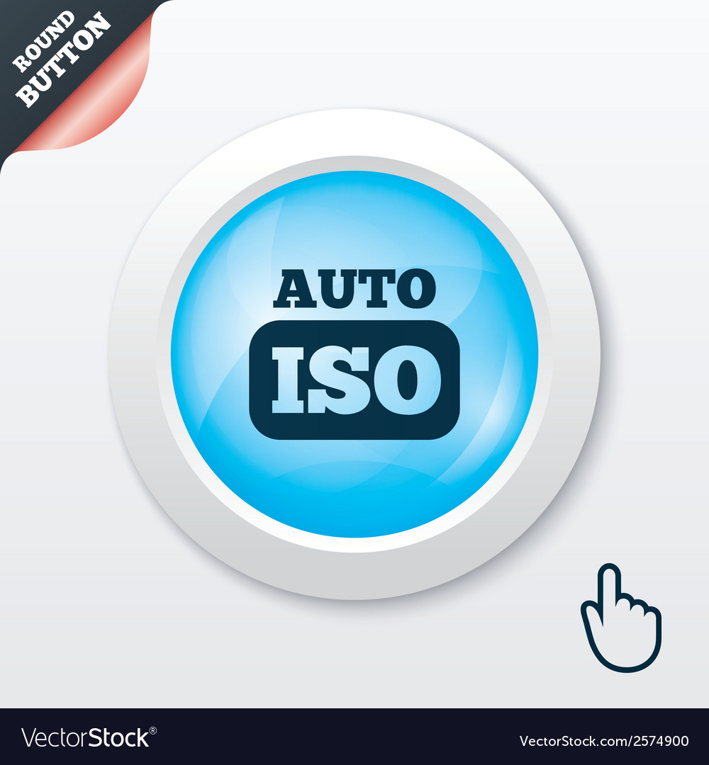 Iso auto photo camera sign icon settings symbol vector | Price: 1 Credit (USD $1)