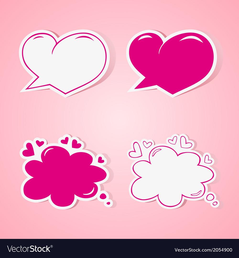 Love speech bubbles vector | Price: 1 Credit (USD $1)