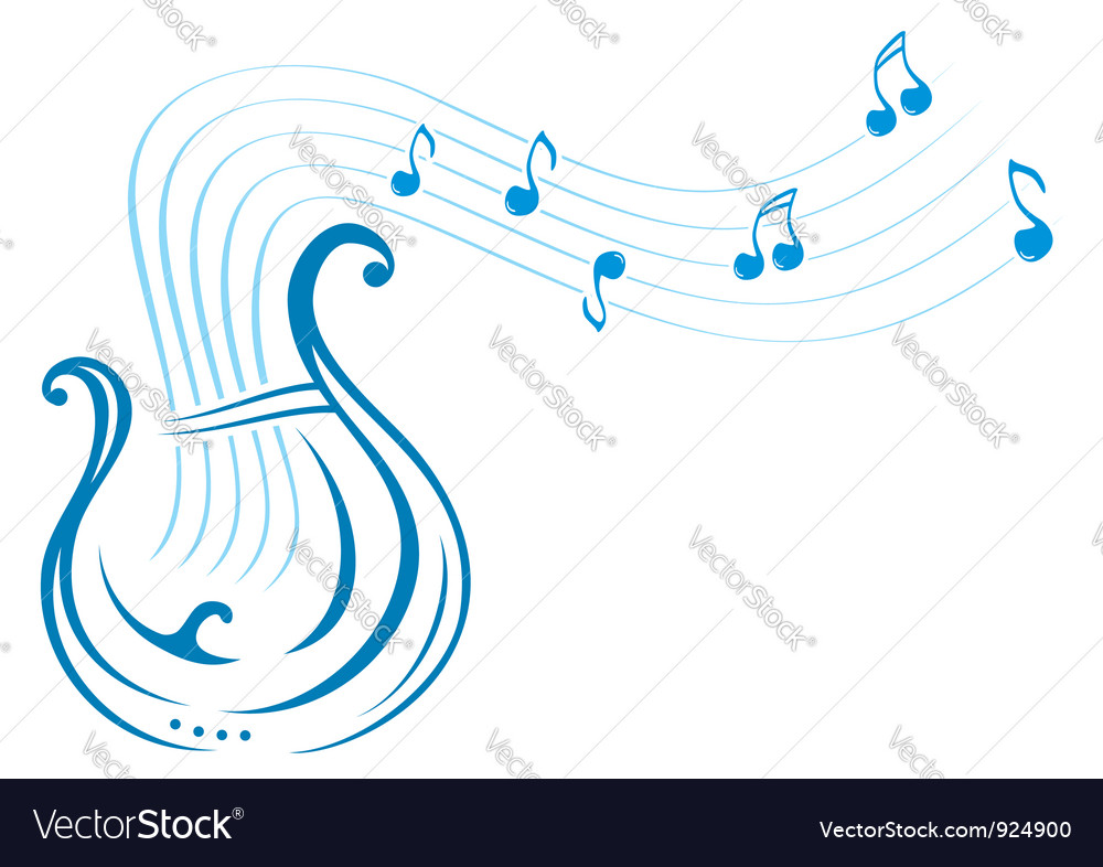 Lyre music vector | Price: 1 Credit (USD $1)