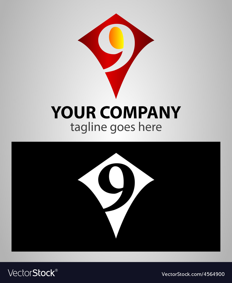 Number nine 9 logo icon design template elements vector   Price: 1 Credit (USD $1)
