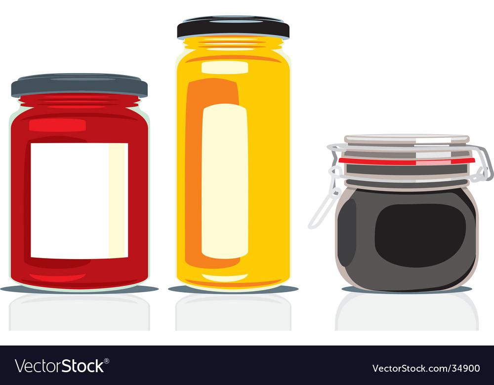 Preserving jars vector