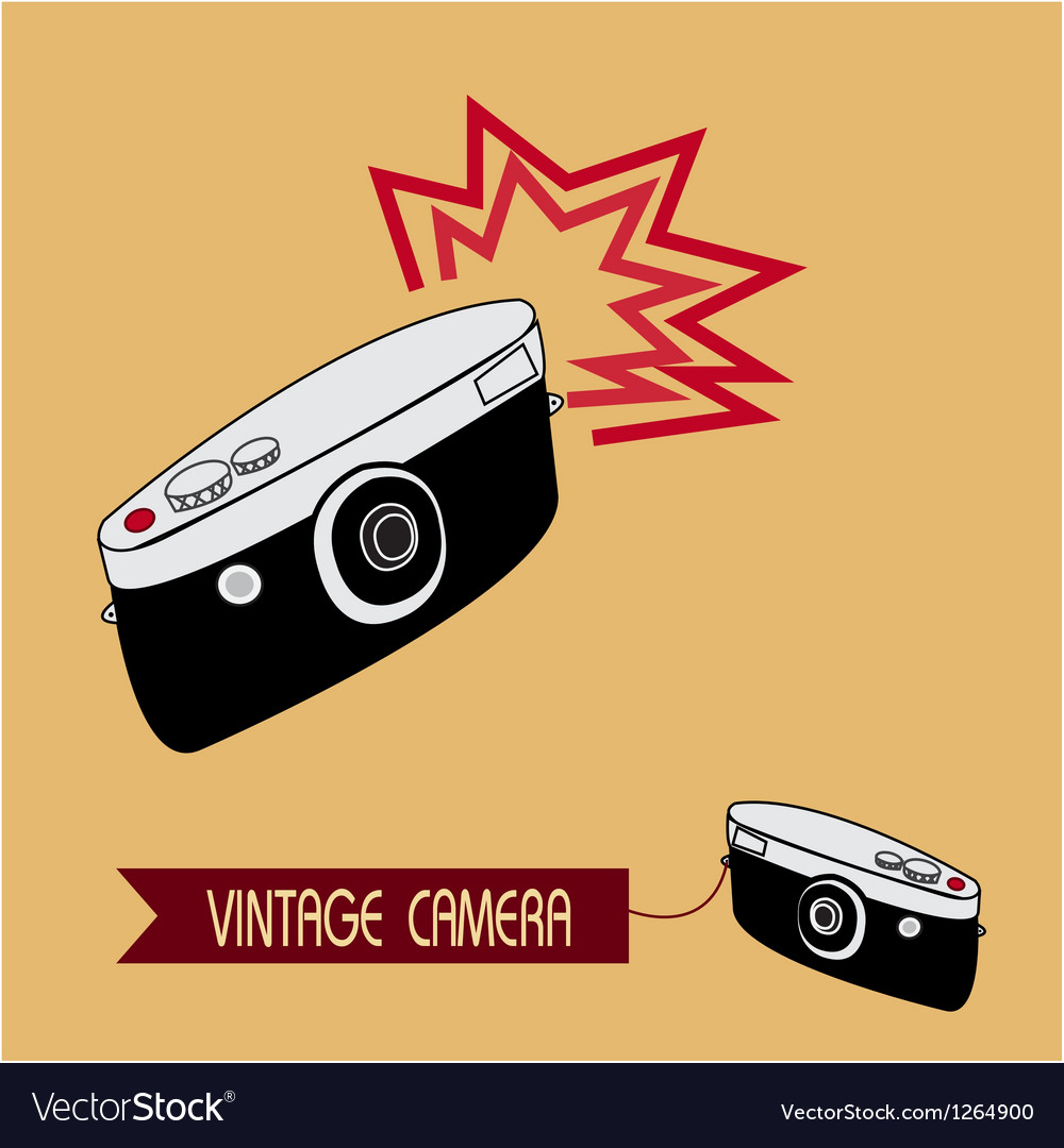 Vintage camera vector | Price: 1 Credit (USD $1)