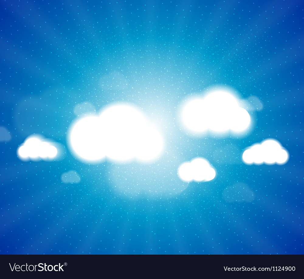 White clouds in the blue clear sky background vector | Price: 1 Credit (USD $1)