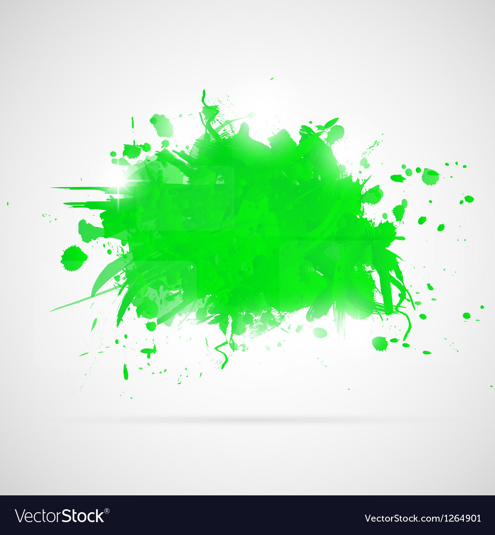 Abstract background with green paint splashes vector | Price: 1 Credit (USD $1)
