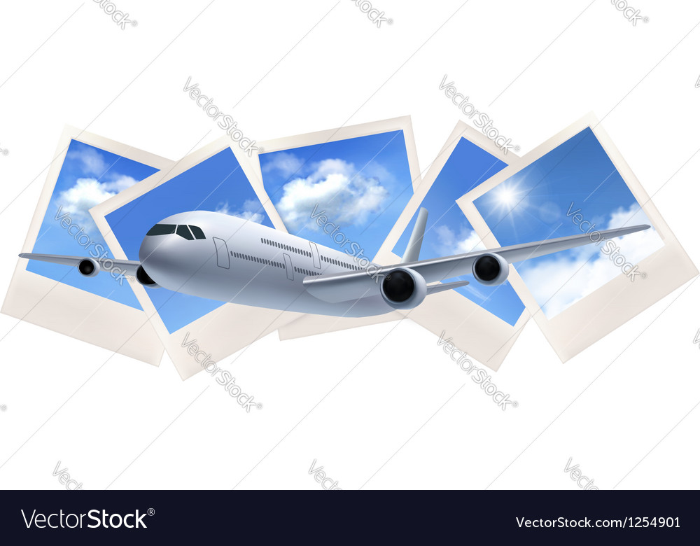 Background with airline and photos with sky vector | Price: 3 Credit (USD $3)