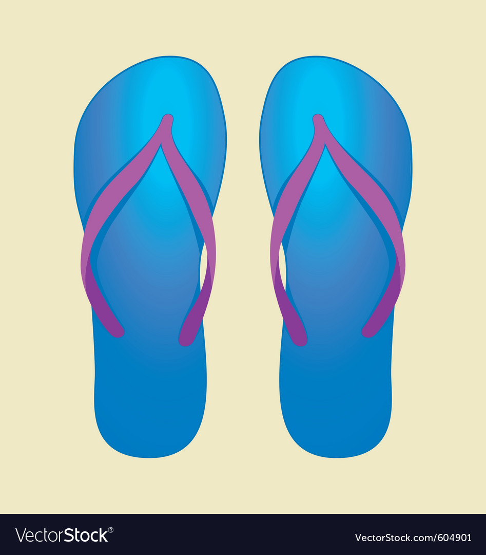 Blue flip-flops vector | Price: 1 Credit (USD $1)