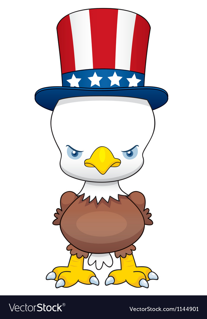 Cartoon american patriotic eagle vector | Price: 1 Credit (USD $1)