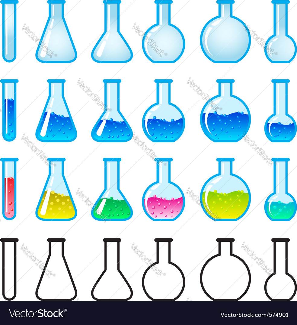 Chemical science equipment vector | Price: 1 Credit (USD $1)
