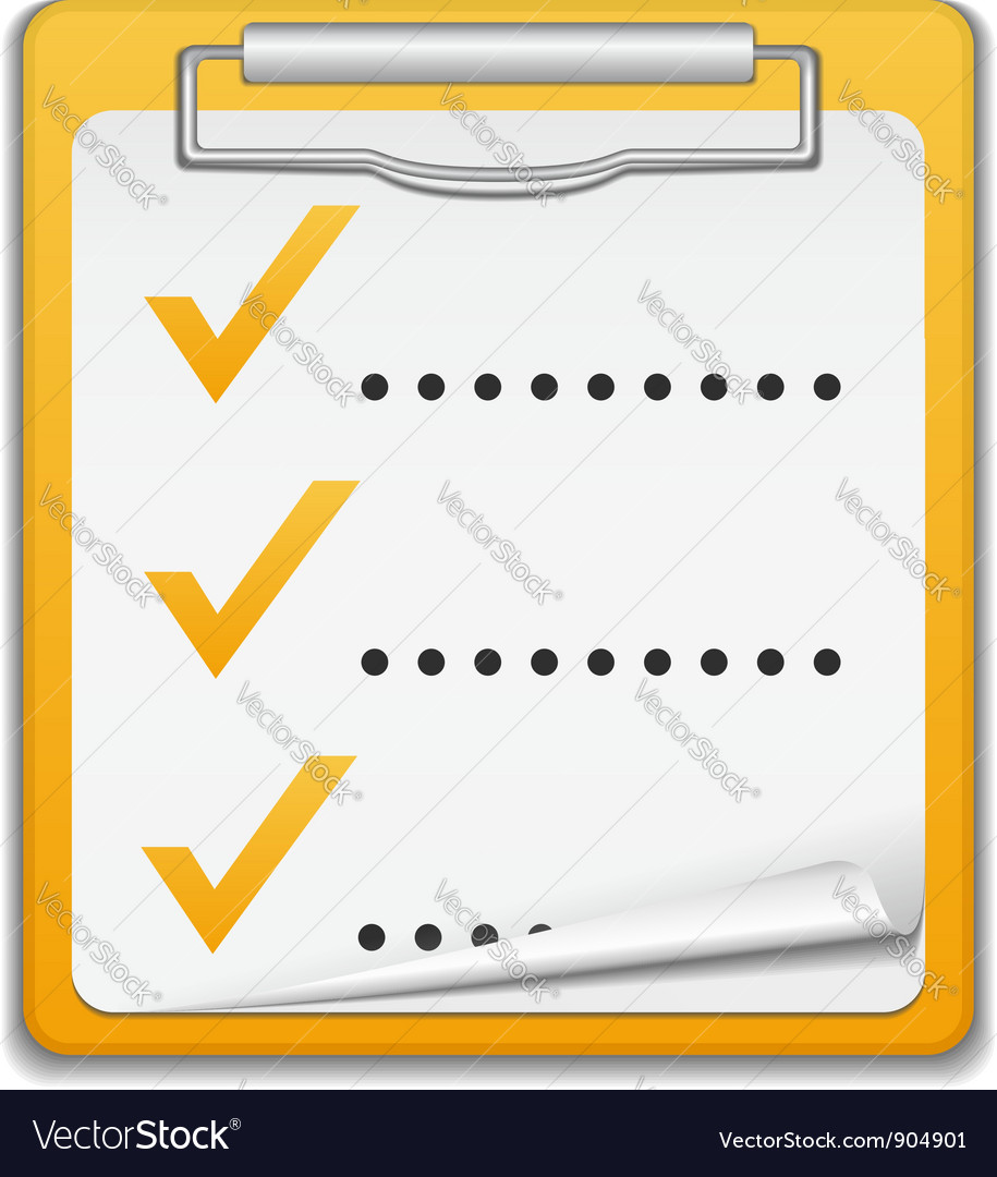 Clipboard with checklist icon vector | Price: 1 Credit (USD $1)