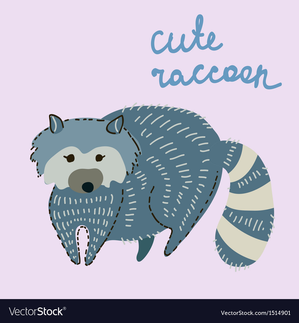 Cute cartoon raccoon vector | Price: 1 Credit (USD $1)