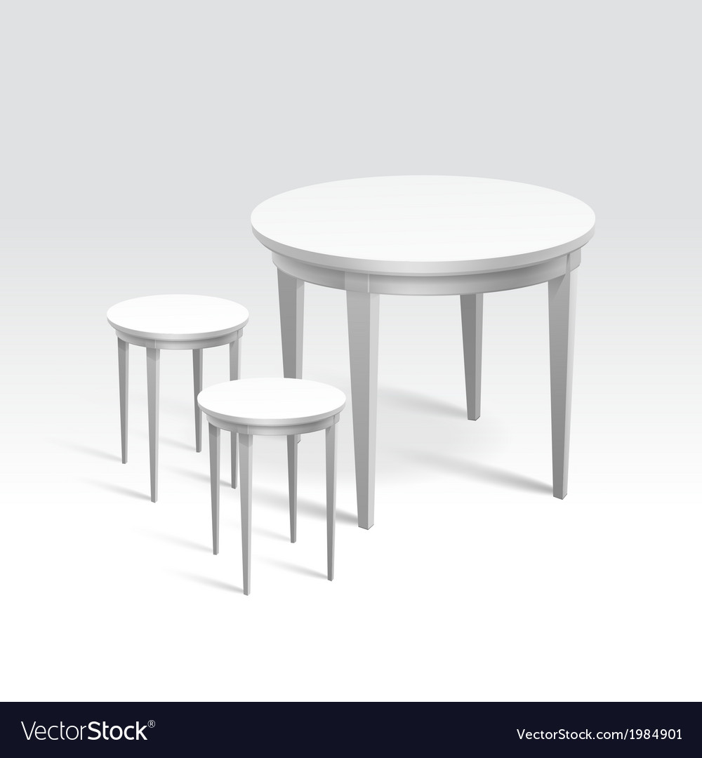 Empty round table with two chairs vector | Price: 1 Credit (USD $1)