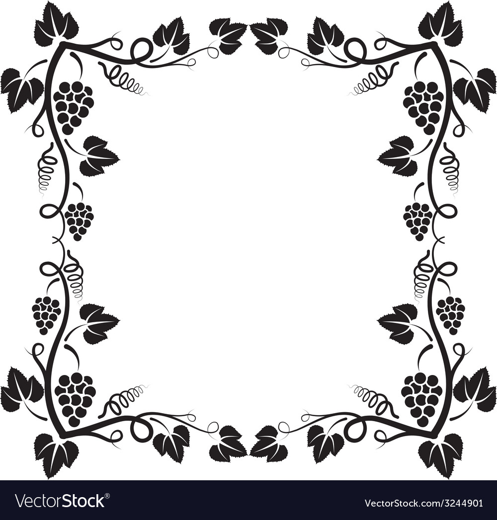 Grapevine frame vector | Price: 1 Credit (USD $1)