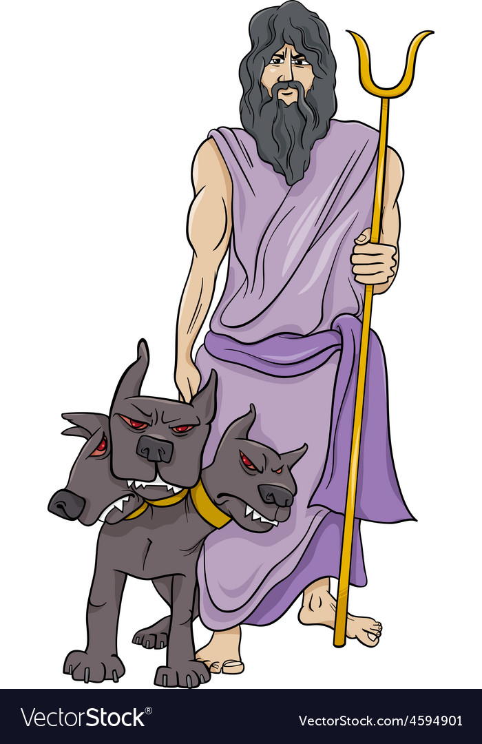 Greek god hades cartoon vector | Price: 1 Credit (USD $1)