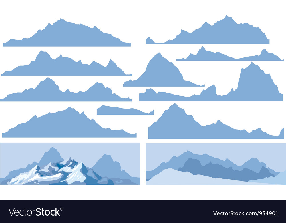 Mountain elements vector | Price: 1 Credit (USD $1)