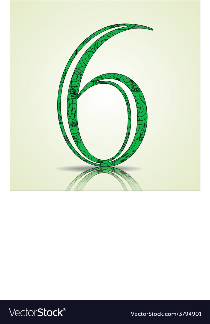 Number 6 design vector | Price: 1 Credit (USD $1)