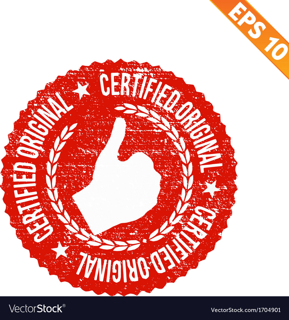 Rubber stamp certified - - eps10 vector | Price: 1 Credit (USD $1)